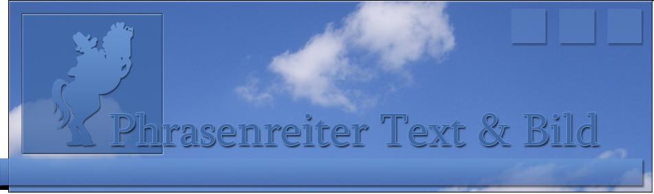 Phrasenreiter Text & Bild Logo